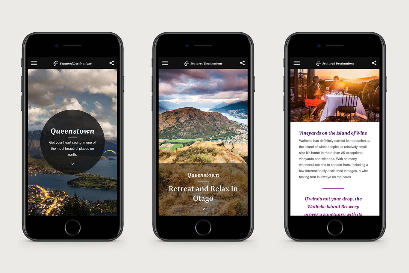 Air New Zealand Inspire Website