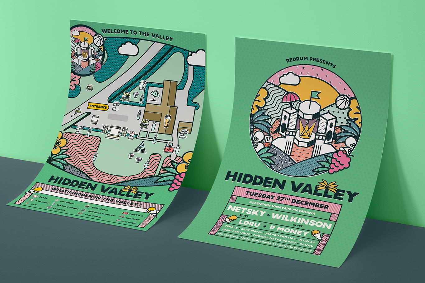 Hidden Valley Festival Artwork