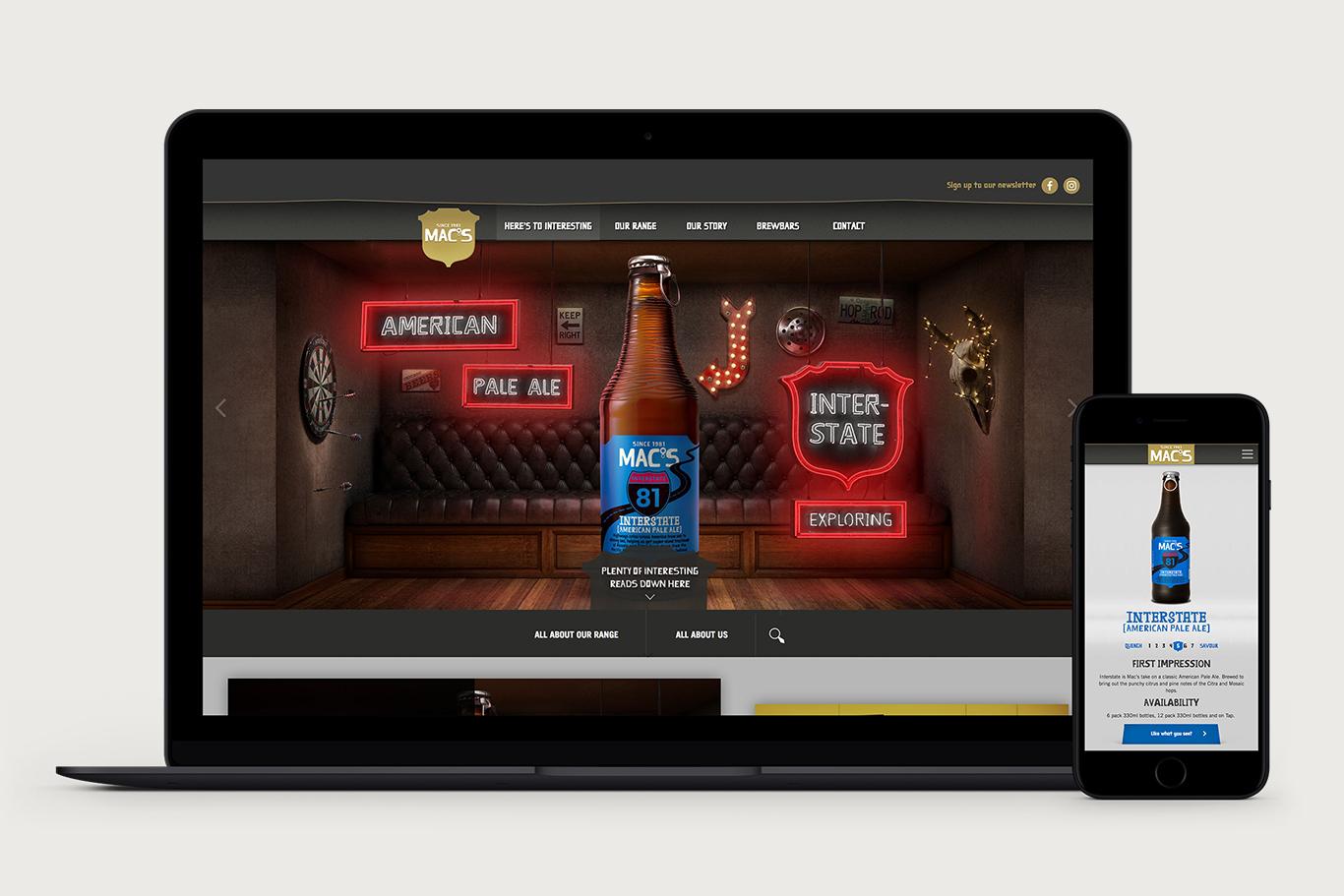 Mac's Craft Beer - Here's to Interesting Website