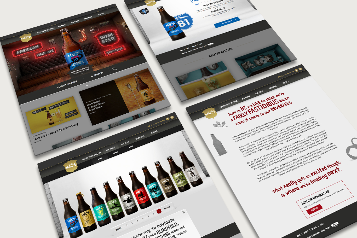 Mac's Craft Beer - Here's to Interesting Website Pages